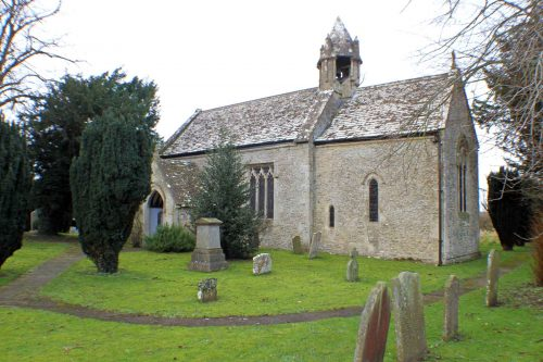 Acton Turville Church, South-East View