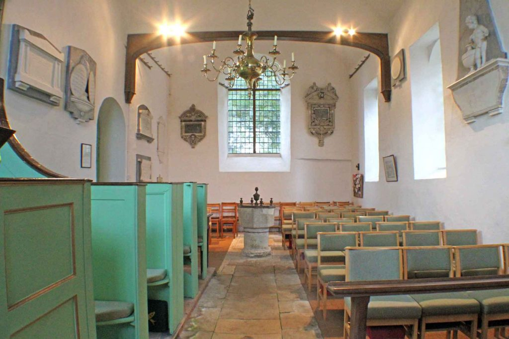 Didmarton Church's Nave From the Chancel