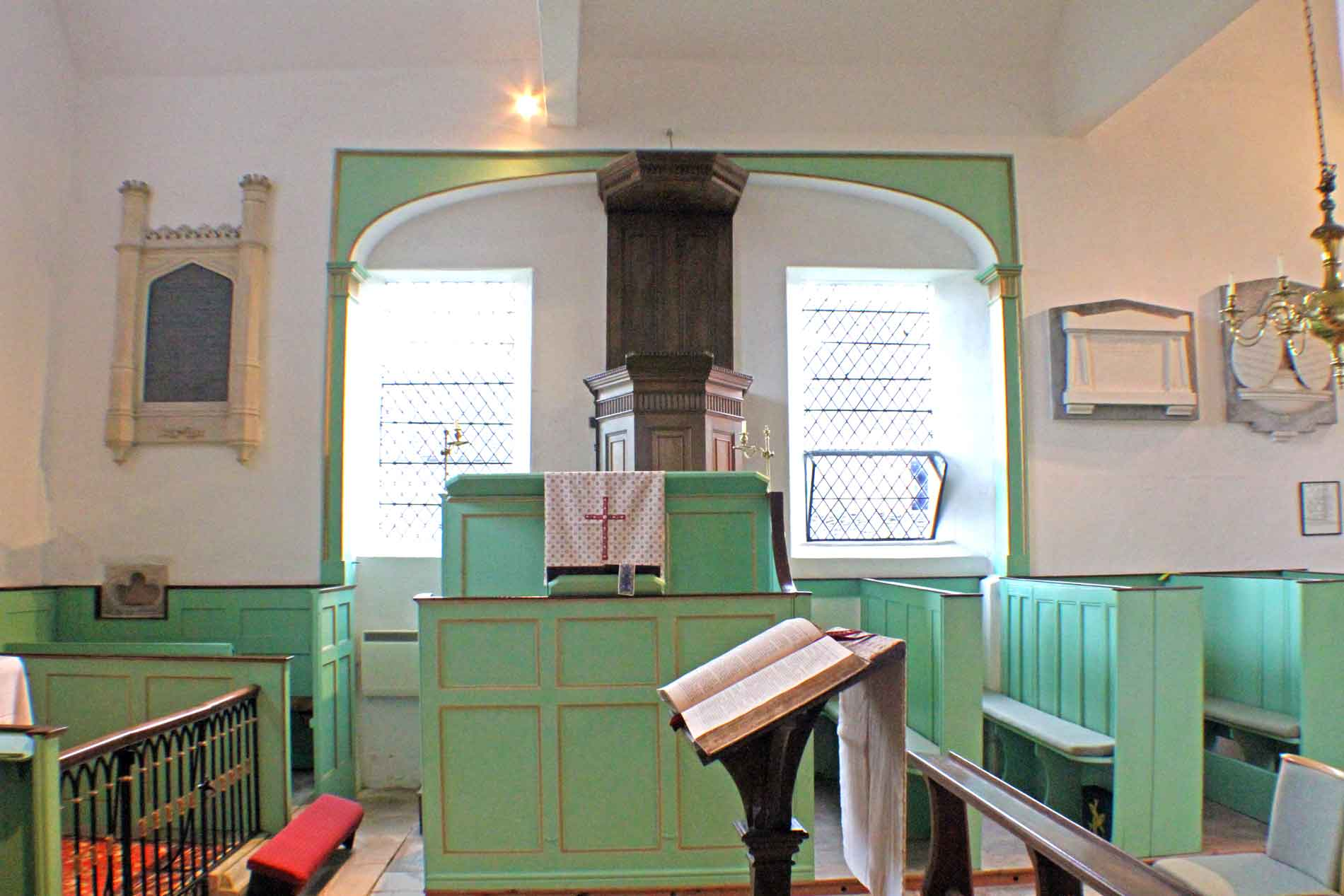Didmarton Church, Triple Decker Pulpit