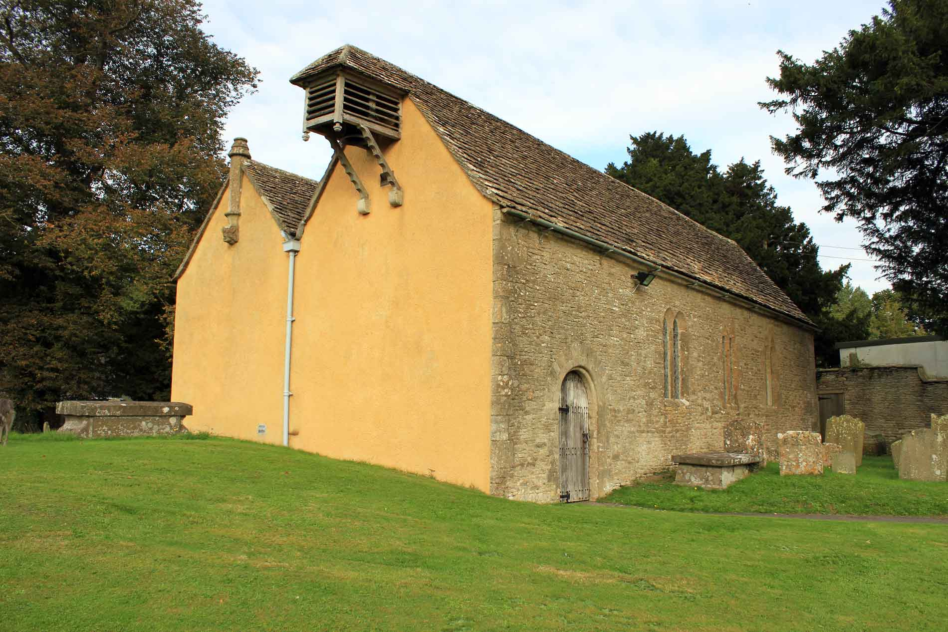 South-West View of Little Badminton Church