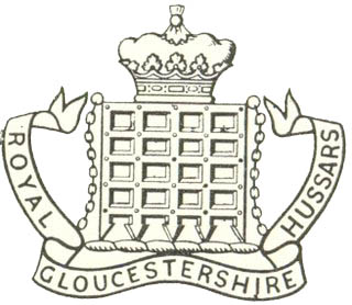 The Royal Gloucestershire Hussars' Crest