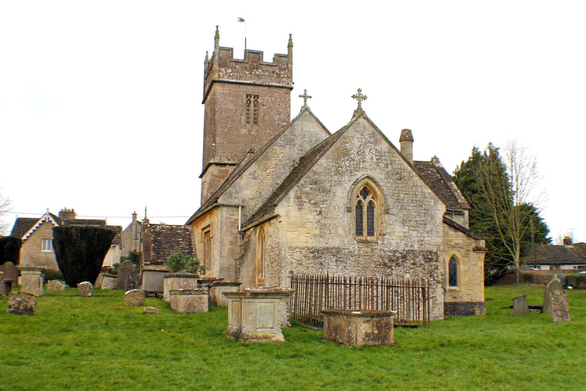 Sopworth Church, East Facade