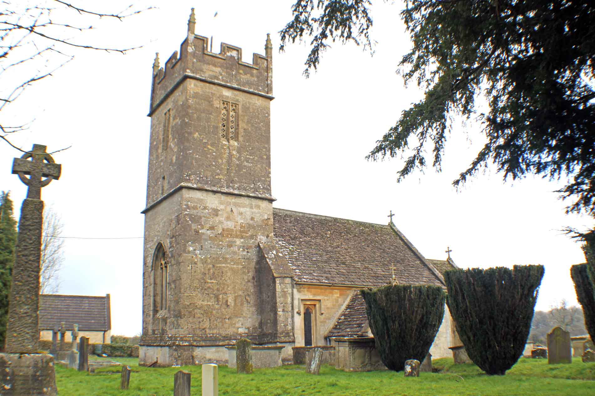 Sopworth Church, South Facade