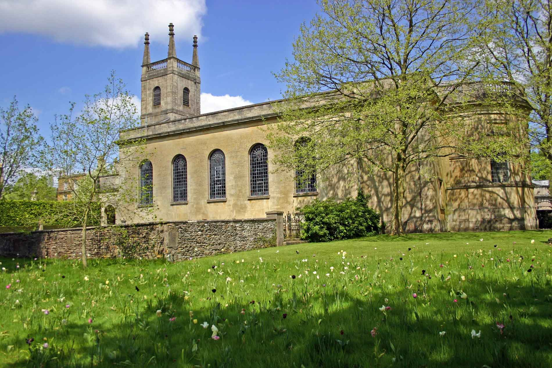 The South Facade of St. Michael and All Angels, Great Badminton